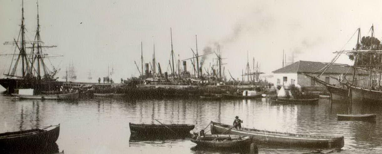 Dársena antigua del puerto de Santander