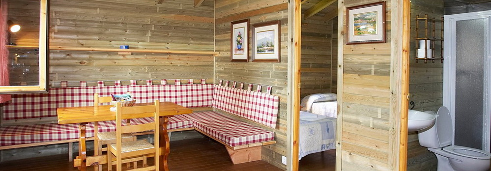 Campings con cabañas de madera