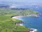 De Somo a Langre por la costa Vista Aérea Cantabria Cantabriarural