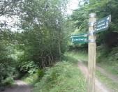 Ruta por los Picos de Europa PR-PNPE 26 Hayedo de las Ilces Señal Desvío a Espinama Cantabria Cantabriarural