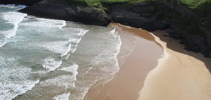 Playa de Antuerta Bareyo, Playa cerca de Isla y Ajo, Playas de Cantabria