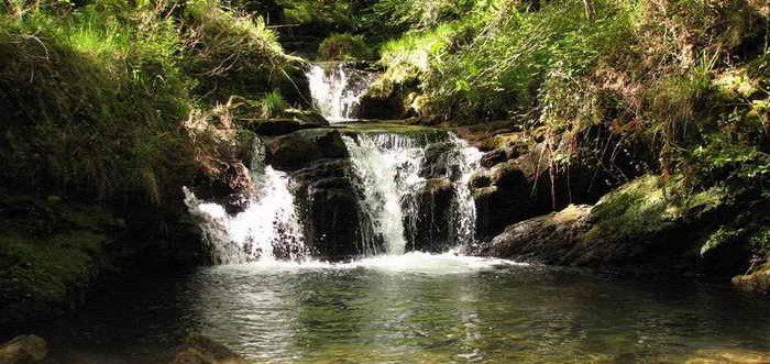 Cascadas de Lamiña en Barcenillas, Cascada de Lamiña Ruente Cantabria