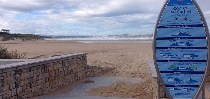Playa de Loredo en Ribamontán al Mar, Playa con escuela de surf en Cantabria