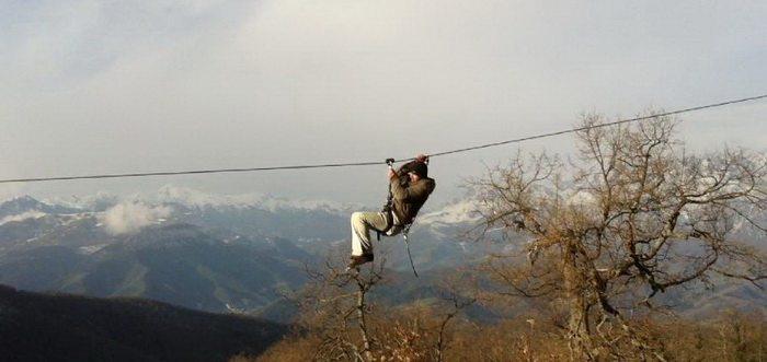 Territorio Canopy, rapel aereo y puente tibetano en Cantabria