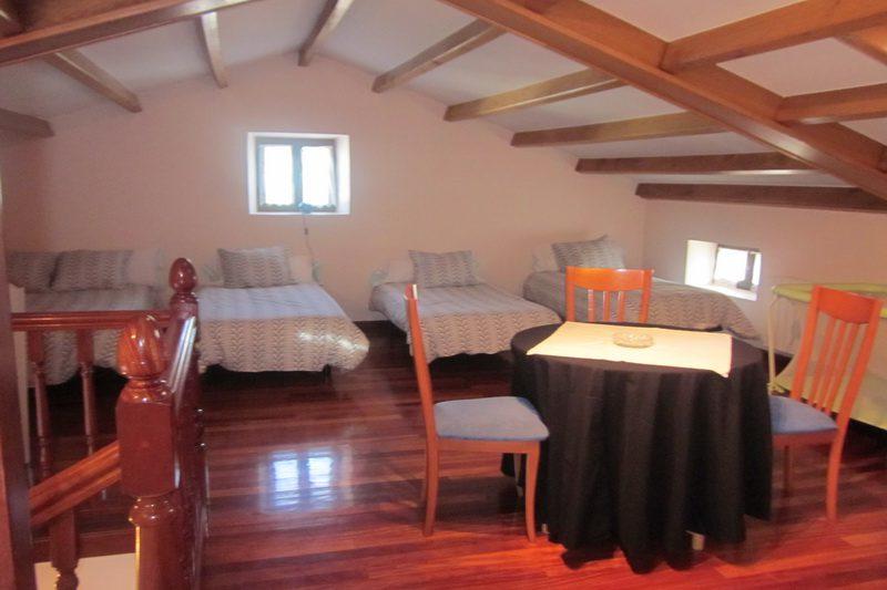 Casa Ahedo Casa rural en Ahedo Ampuero Cantabria dormitorio bajo cubierta