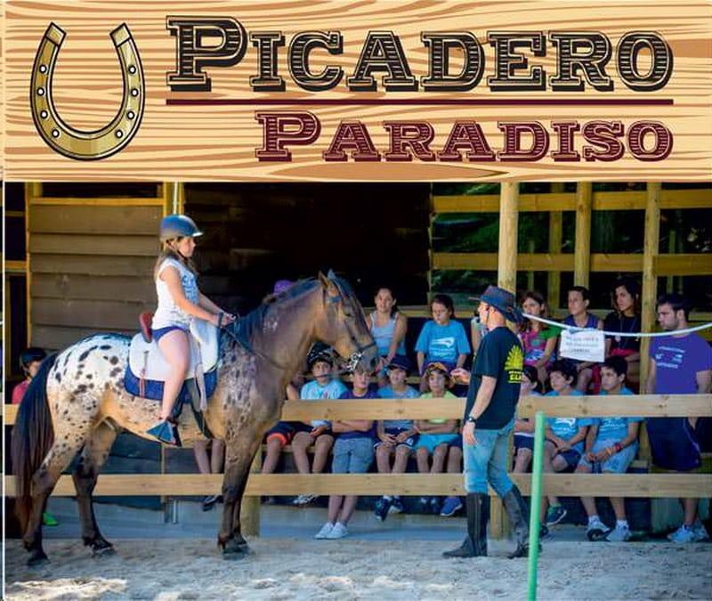 Taller ecuestre para niños en el albergue paradiso