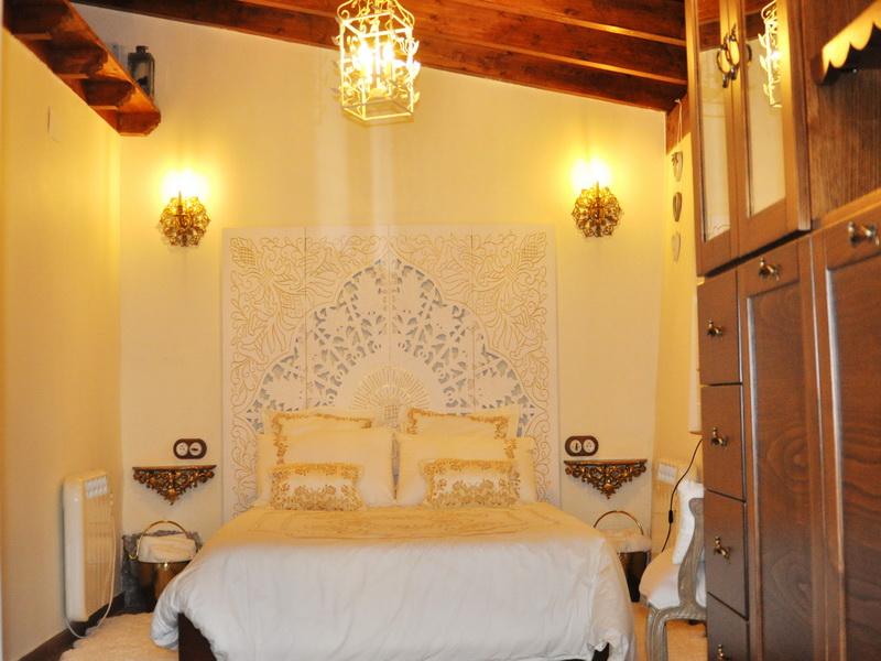 Dormitorio principal de Cabaña Val del Mazo