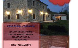 Casa rural Costalisa oferta mes del amor