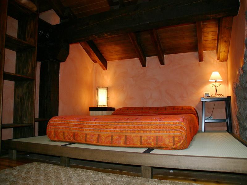 Habitacion con futon de El Pozu la Tejera