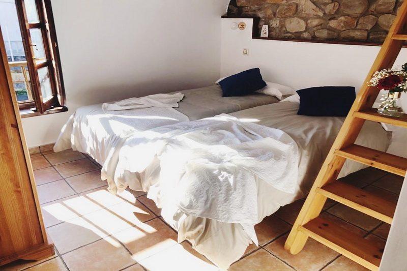 Uno de los dormitorios de la Posada Norte