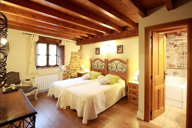 Amplias habitaciones de la Casa rural El Mirador de Lanchares