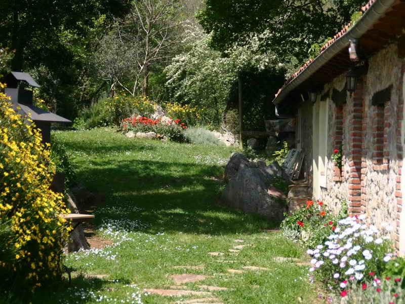 Los Acebos de Peña Cabarga Flores de primavera en el jardín