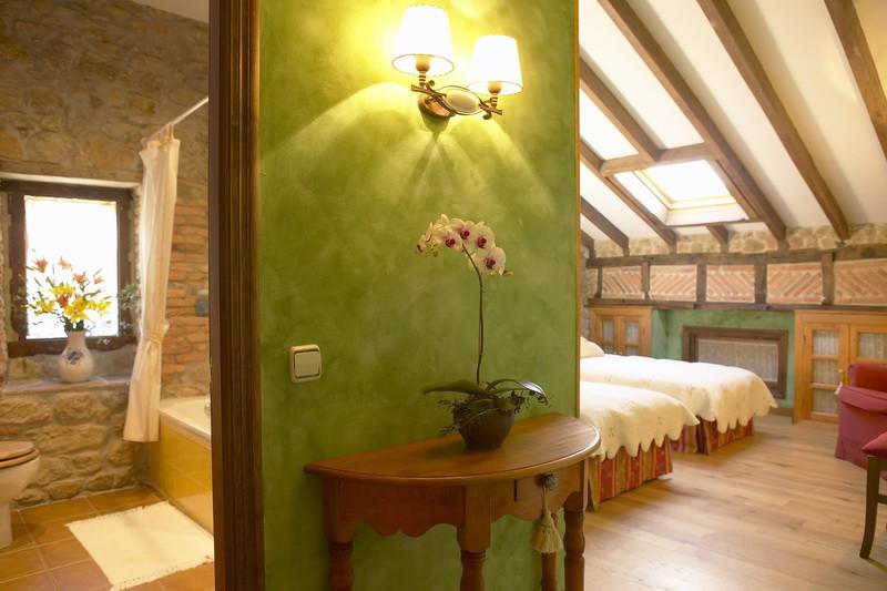 Amplias habitaciones de Posada La Cotia