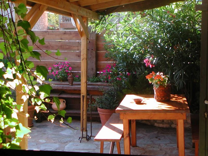 Posada La LLosa de Somo rincón en el Jardín
