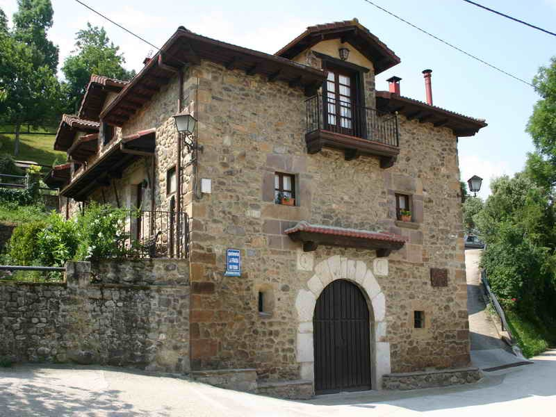 Viviendas Rurales La Fragua fachada de uno de los edificios